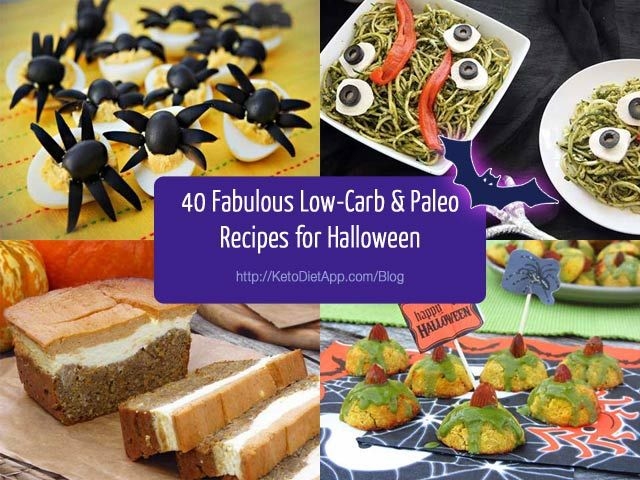 40 Fabulous Low-Carb & Paleo Recipes for Halloween