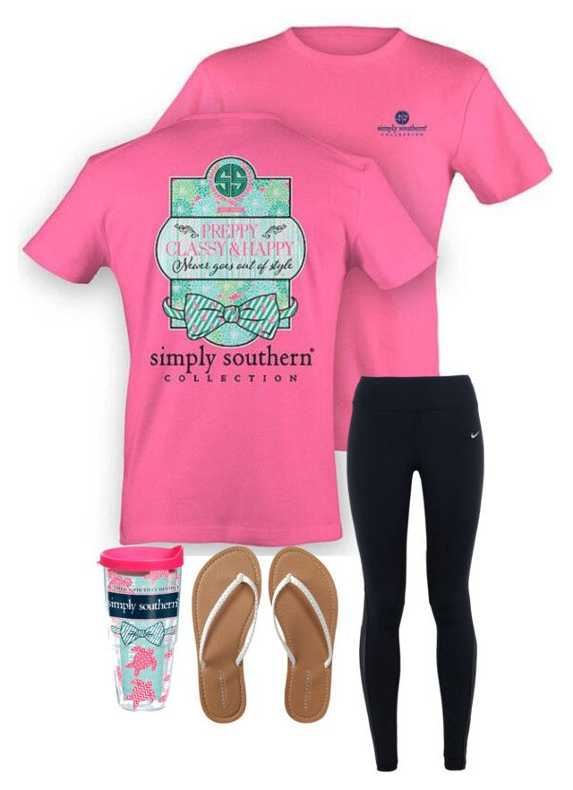 """""""Simply southern"""" by madison-mills-1 on Polyvore featuring Tervis, NIKE and Aéropostale"""