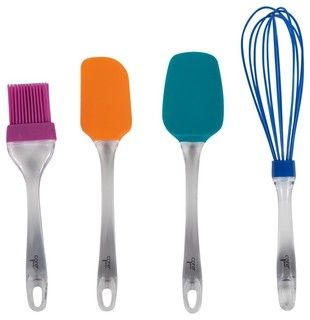 Everyday Silicone 4 Piece Utensil Set - modern - cooking utensils - other metro - by Core Kitchen