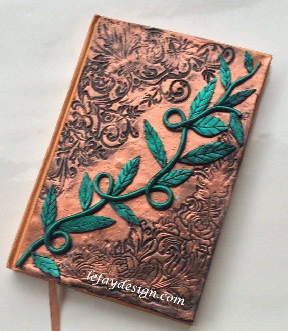 Tendril Polymer Clay Journal / book / notebook / diary