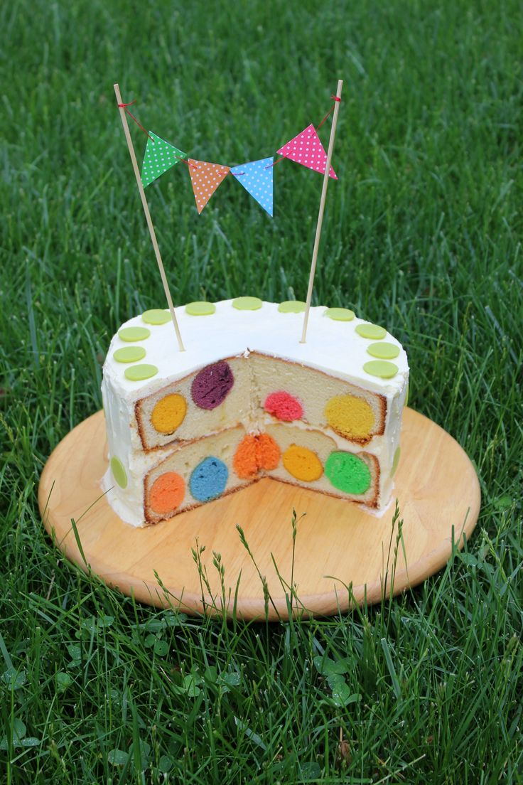 Торт в горошек