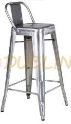 DL FACTORY BS LB GALV - Galvanizált fém bárszék