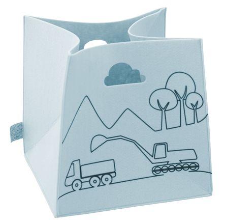 SneDesign Förvaring Country Life Grävmaskin, Blå