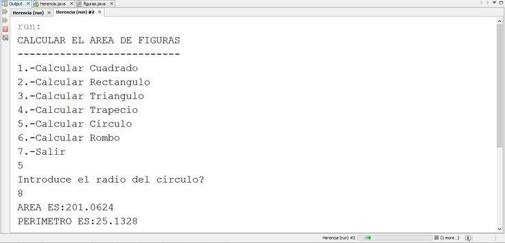 Programa que permite calcular el area y perimetro de figuras geometricas.