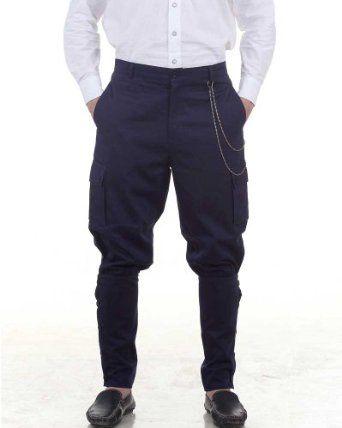 Mens Steampunk Victorian Costume Airship Pants Trousers -Blue  AT vintagedancer.com