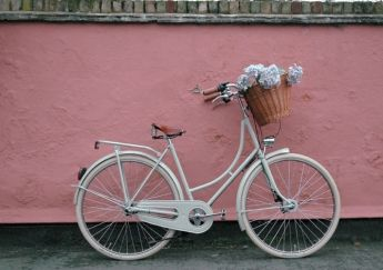 If I got married, this is the bike I'd ride in on!  It looks like a wedding bike!!