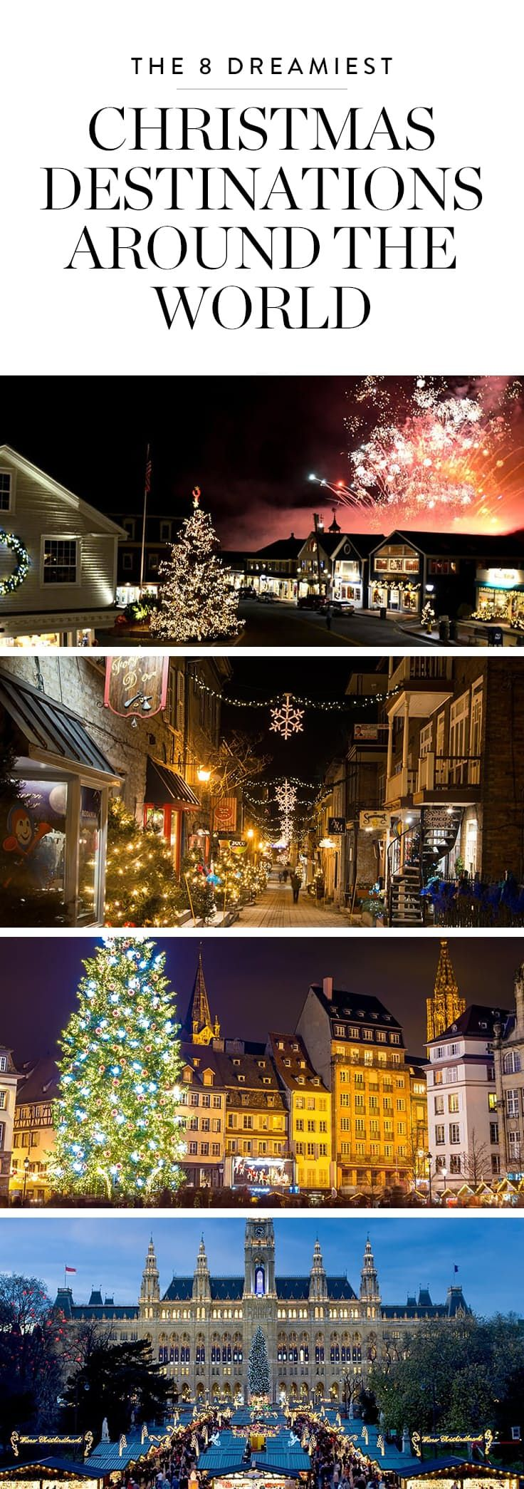 The 8 Dreamiest Christmas Destinations Around the World via @PureWow