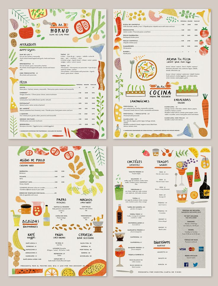 Logo + Menu   KANDIL On Behance  Kids Menu Templates
