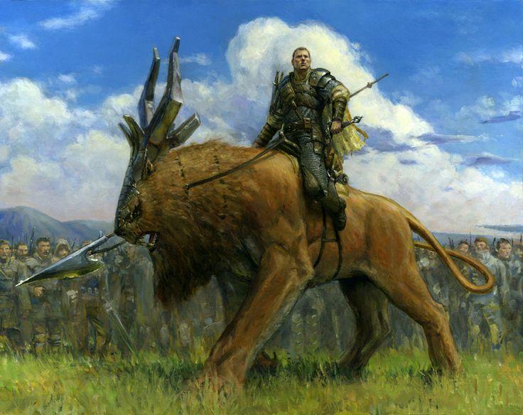 - Steven Belledin Gallery. Mounted general of mercenary group rival of crushing crusaders