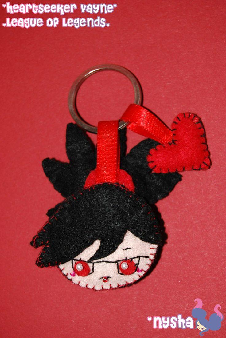Heartseeker Vayne keychain by Nyshandra.deviantart.com on @deviantART