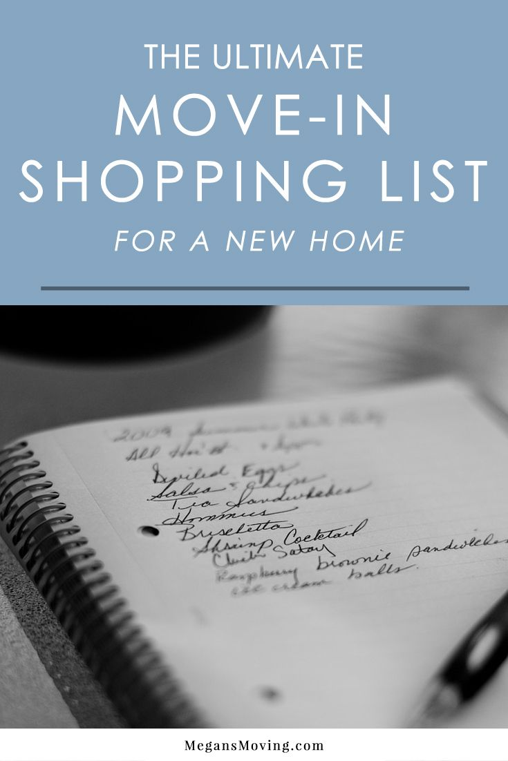 Once you move into a new home, you'll find that you're probably missing some essential things. This comprehensive new home shopping list will help you make sure you get everything you need!