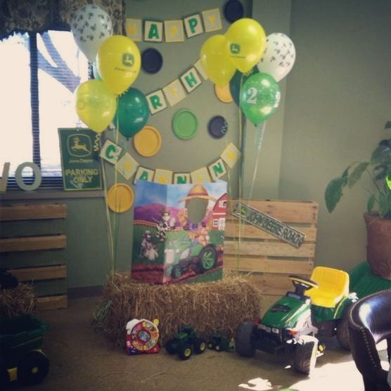 John Deere Birthday Party Play Area And Photo Booth