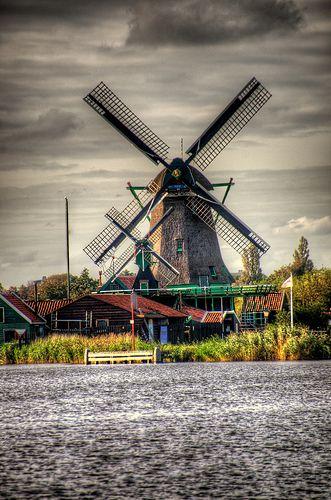 Zaanse Schans Windmills, Netherlands by CamelKW, via Flickr