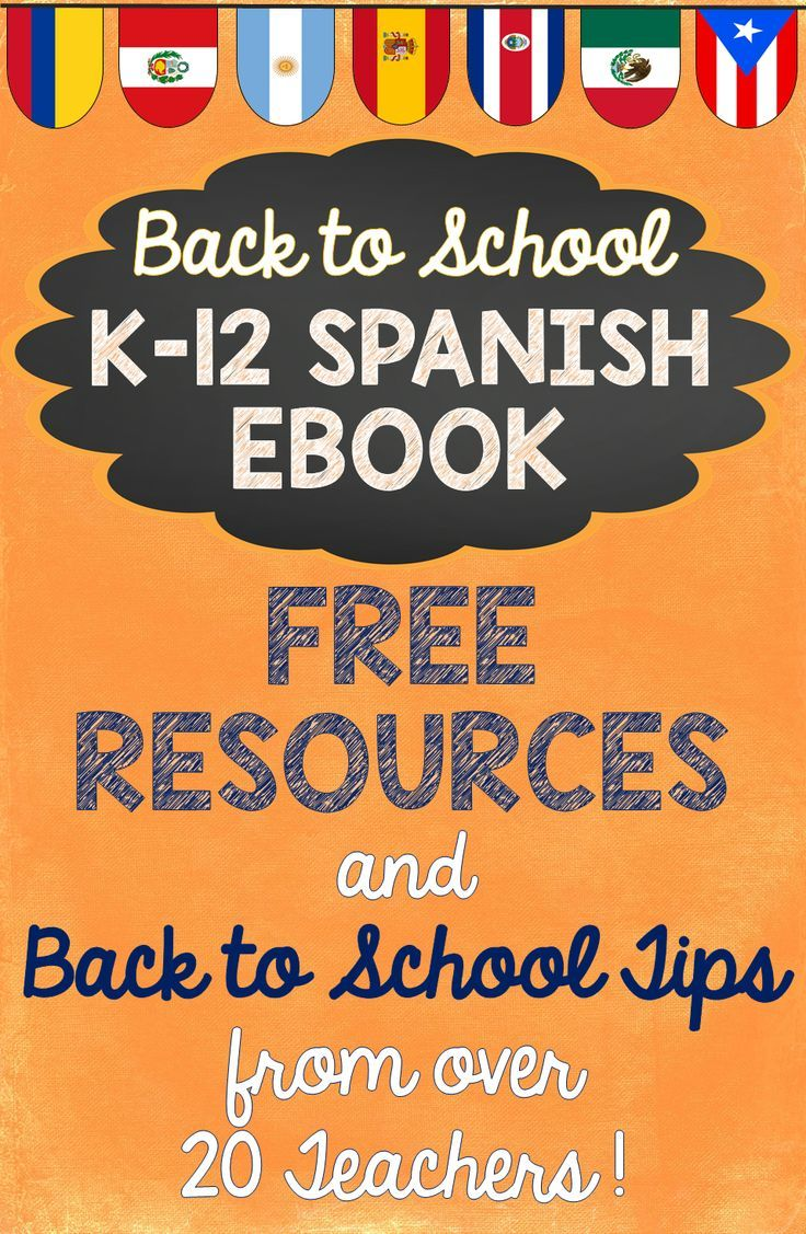FREE EBOOK! Find some inspiration for your classes this year with tips and freebies from many of the top Spanish sellers on TpT. Each page is packed with tips, freebies, and other resources to help you add some fun to your classroom. Be sure to click on the image for the free item on each page and to check out the other great resources by that seller. https://www.teacherspayteachers.com/Product/Back-to-School-Spanish-Ebook-Tips-and-FREE-Resources-from-over-20-Teachers-2000763