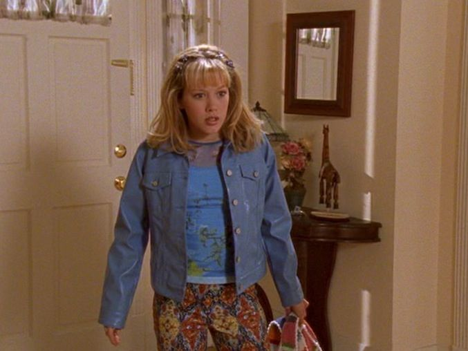 Twelve of Lizzie McGuire's Best Outfits | Exceptional Floral Pants Lizzie
