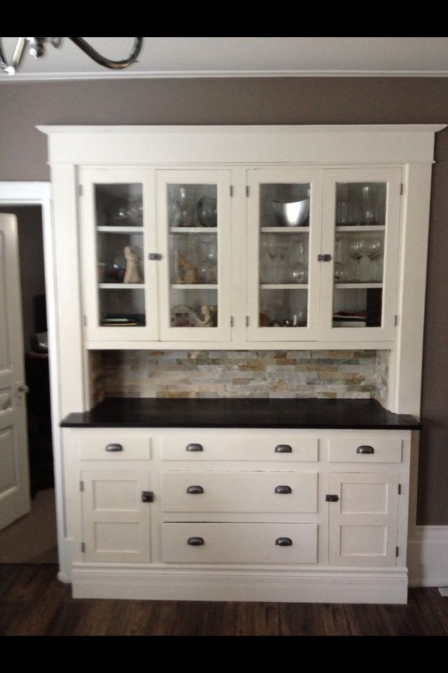 Cece caldwell chalk paint built in hutch for the home for Cece caldwell kitchen cabinets
