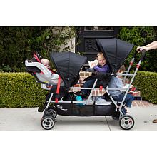 "Joovy Big Caboose Stand-On Tandem Triple Stroller - Appletree - JOOVY - Babies ""R"" Us"