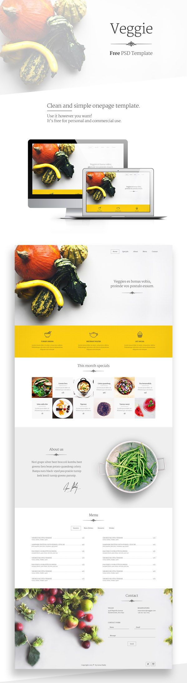 102 best psd templates images on pinterest psd templates veggie free useful and modern psd template this template can be used in the food business use it in personal or commercial projects share it pronofoot35fo Gallery