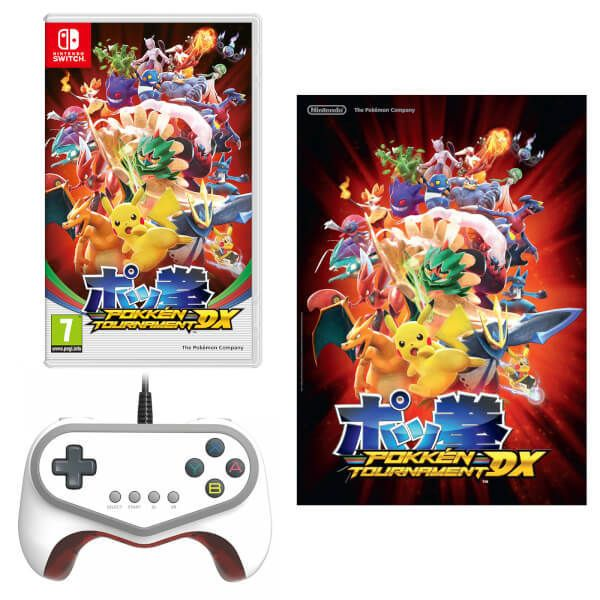 Nintendo UK store - Pokkén Tournament DX  Pokkén Tournament Pro Pad Controller  A2 Poster   The popular Pokémon fighting game comes to the Nintendo Switch console with added Pokémon fighters and new ways to battle other players.  This bundle includes Pokkén Tournament DX a Pokkén Tournament Pro Pad Controller and an A2 Poster.  Release date: 22nd September 2017  Grab yours here  from GoNintendo Video Games