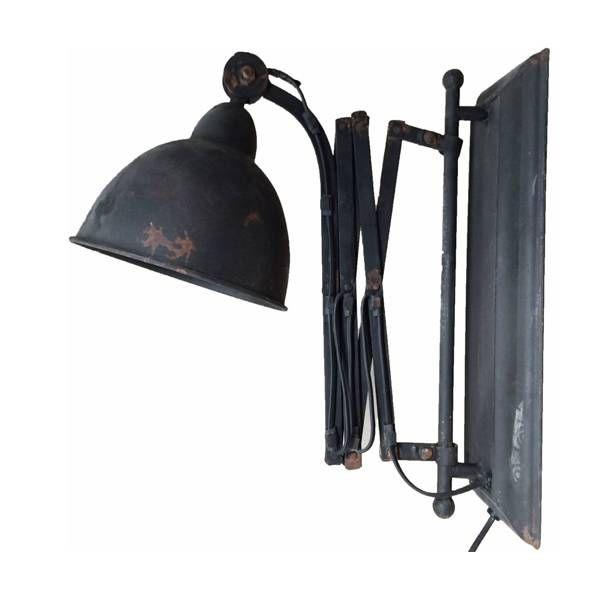 Deze zwarte metalen wandlampen zijn zeer exclusief en uitrekbaar. Ideaal als leeslamp of dergelijke. De wandlamp 19 cm breed en uitrekbaar tot 36 cm. Hoogte is
