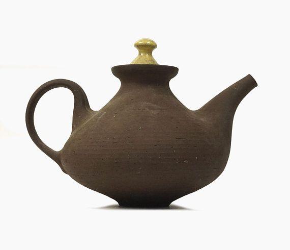 Ditlev Ceramic Teapot Kettle Denmark Mid Century Modern Etsy Ceramic Teapots Pottery Tea Pots Tea Pots