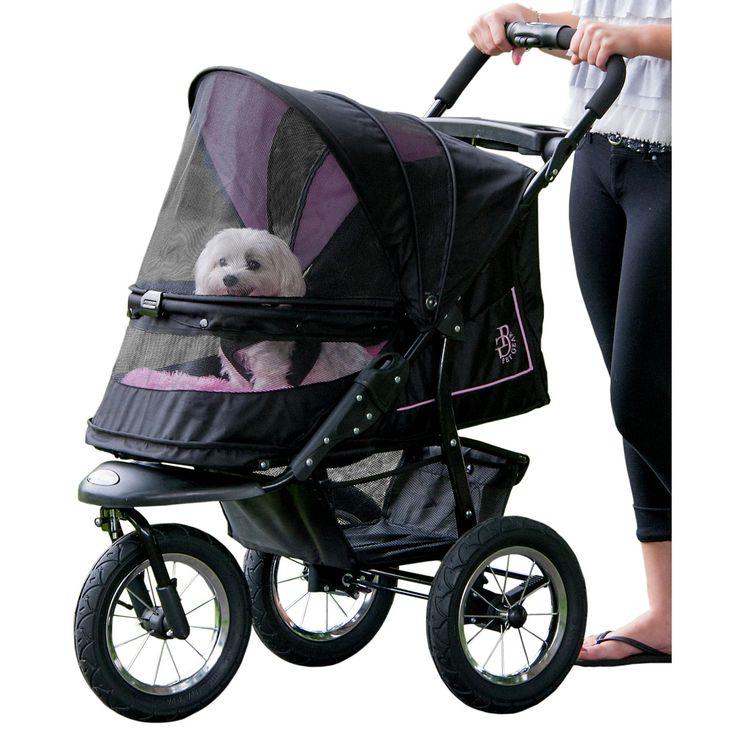 Pet Gear NV NoZip Rose Pet Stroller, For pets up to 70