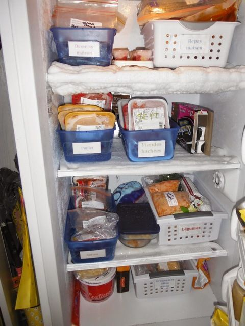 17 meilleures id es propos de organiser le cong lateur sur pinterest orga - Comment degivrer un congelateur ...