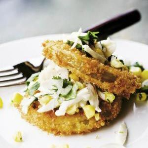 Fried Green Tomato & Crab Stack | Charleston Magazine