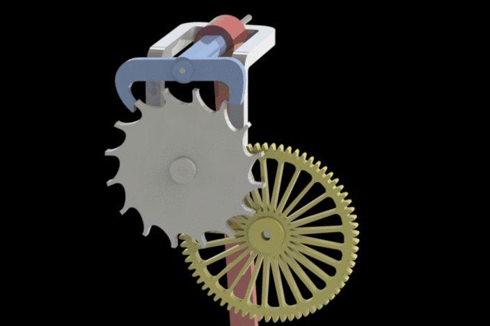 Pendulum Clock Mechanism Mechanisms Gears Kinematics