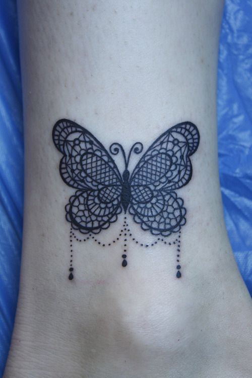 lace butterfly tattoo | lace butterfly love