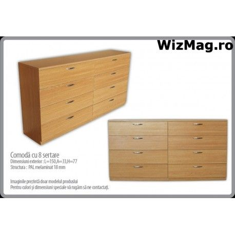 Comoda cu 8 sertare WIZ 0047