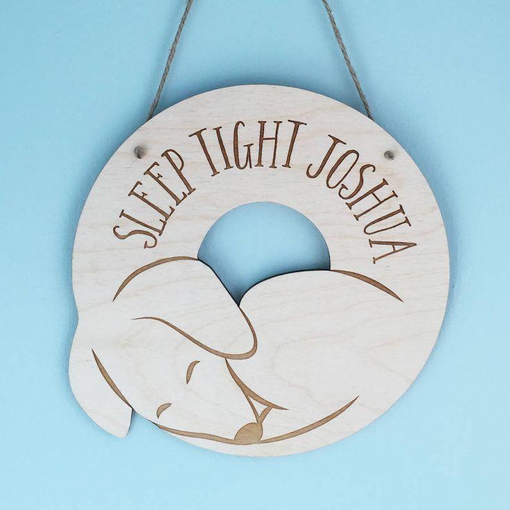 Personalised 'Sleep Tight' Dachshund Wall Hanging