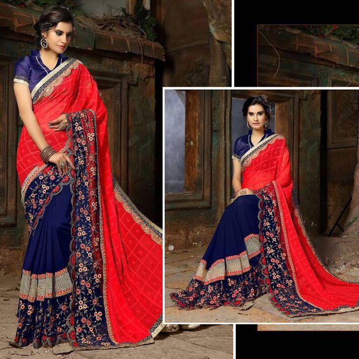 New Party Wear Indian Ethnic Designer Sari Bollywood Georgette Saree Blouse Suit #Handmade #SareeSari