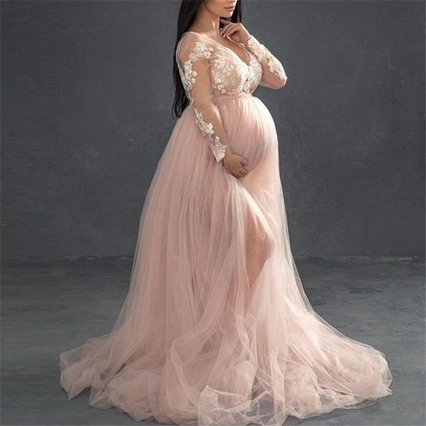 Maternity dress for photo shoot ON SALE Pregnancy dress Photo Props~ Maternity robe Baby Shower Photography  Maxi dress~ Ready to Ship