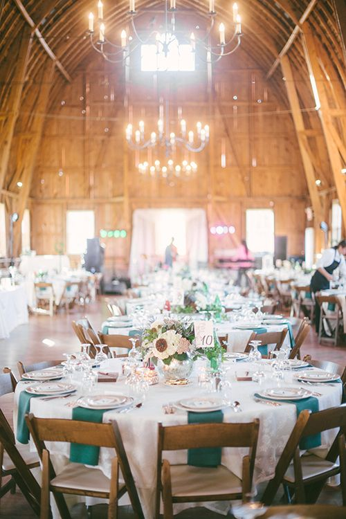 A Perfect Rustic Barn Wedding Reception Brides