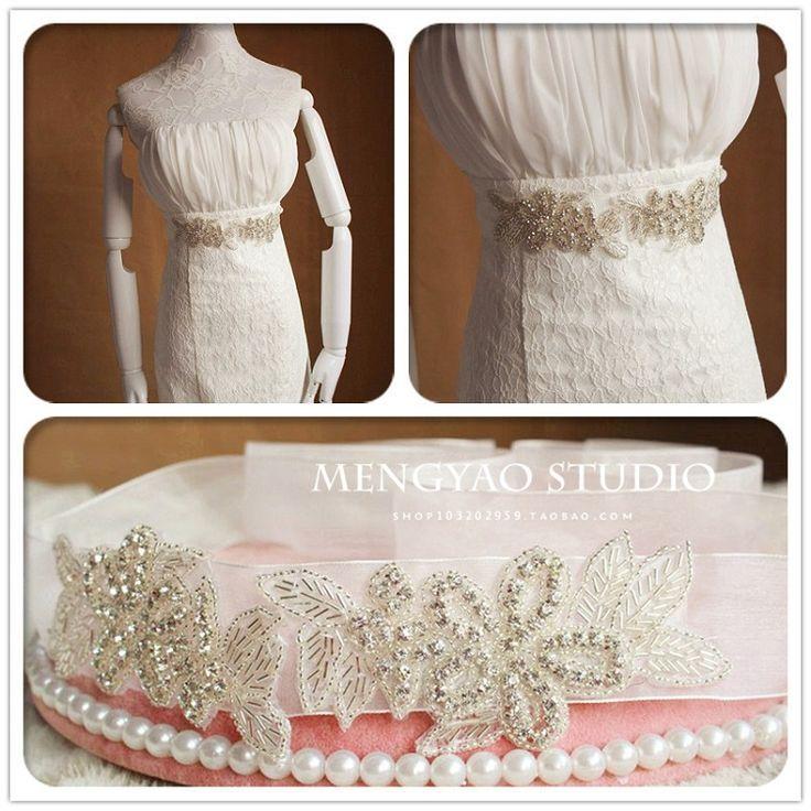 Экспорт высокого класса европейских и американских ручной роскоши алмаз пояс пояса диких невесты свадебное платье с драгоценностями - Taobao