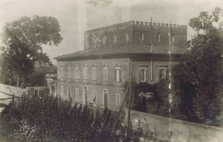 Villa Graziani in all its grandeur in beautiful neo-classical style.