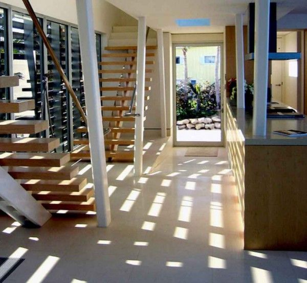 Beach House Staircase Design 600×554 - pictures, photos, images