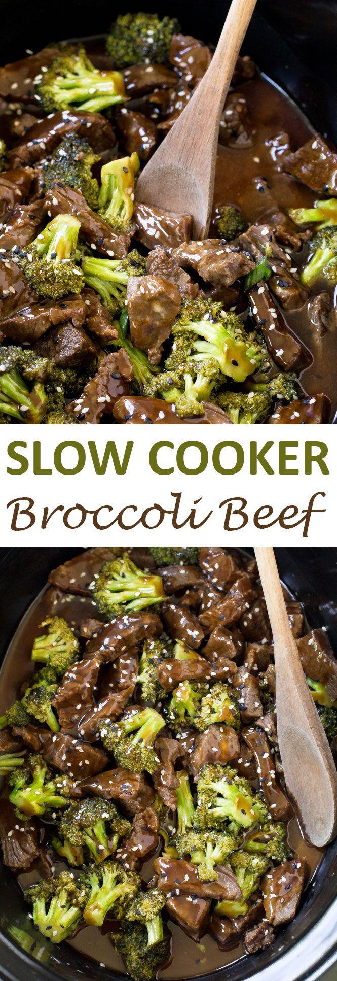 Slow Cooker Broccoli Beef