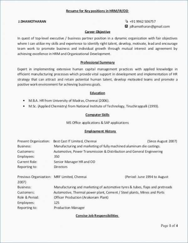 24 Examples Of Professional Resumes And Cover Letters Cover Letter Templates