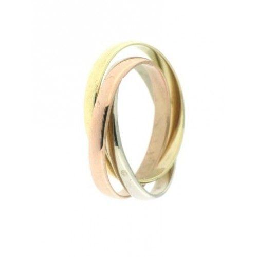 drie ringen in één | geel rood en wit goud | #ring #ringen #goudenringen #goud #sieraden #jdbw