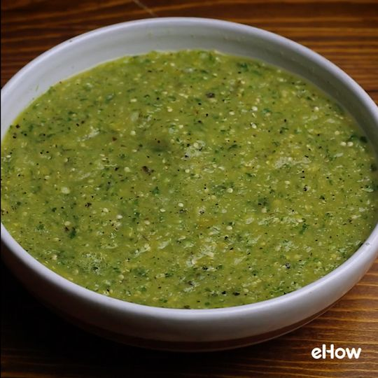 Whip up a batch of aji verde, green salsa, in minutes.