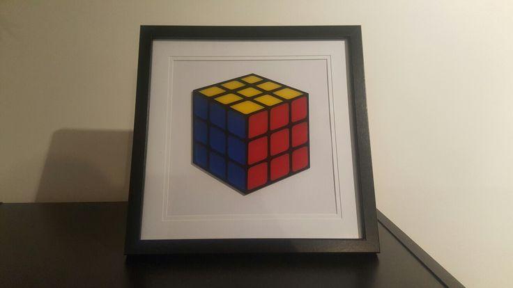 Rubik's Cube frame $35 https://www.facebook.com/sherlockdesigns/