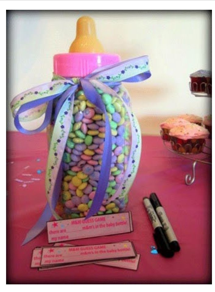 Game Idea  Guess How Many Mu0026Mu0027s In The Bottle And Closest Guess Wins A  Prize. Find This Pin And More On Baby Shower ...