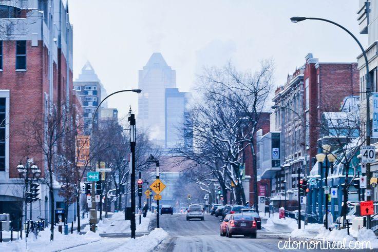 Voir la ville de Montréal sous la neige