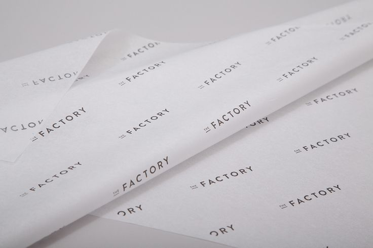 Branded tissue paper for Oklahoma City fashion store The Factory graphic design studio Ghost