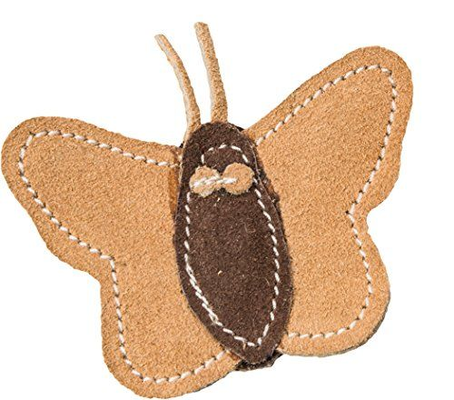 """Ethical Pets Dura Fused Leather Butterfly Cat Toy 3.5"""""""