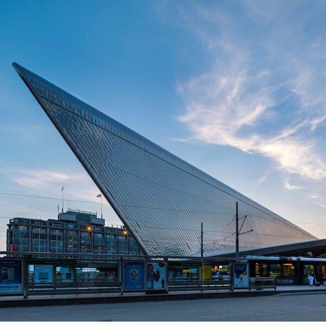 Rotterdam Central Station by Benthem Crouwel Architects +  MVSA Architects  + West 8. #morfae   #benthemcrouwel   #mvsa   #west8   #architecture   #rotterdamcentralstation