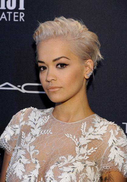 Rita Ora Messy Cut | Hair | Short hair styles, Curly hair ...
