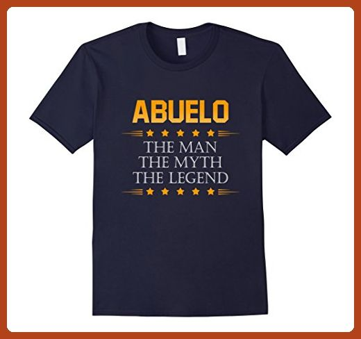 Mens Abuelo The Man The Myth The Legend T-shirt XL Navy - Relatives and family shirts (*Partner-Link)